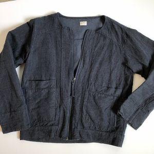 Poetry Blazer Zip Jacket Blue | Size 6